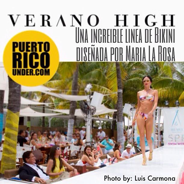 Coleccion Verano High de la diseñadora Maria La Rosa #giselleblondet #fashion #miami #swimweek #veranohigh #perriconemd #puertoricounder #luiscarmona @puertoricounder @luiscarmona