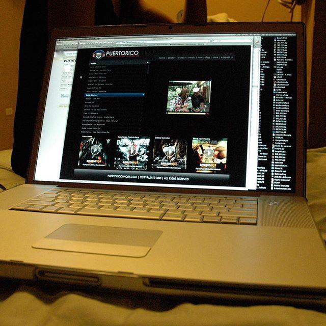 #tbt 2008 nuestro website llevandole a los fans lo que les gusta los videos y noticias de sus artistas favoritos. @puertoricounder @letusdotheworkforyou @luiscarmona