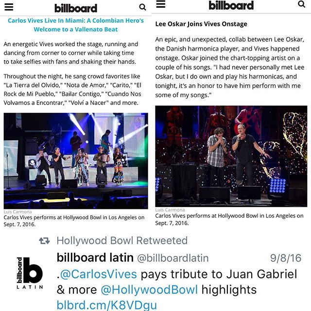 #latinbillboard latest photo/video work #carlosvives #hollywoodbowl #california #hollywood @hollywoodbowl @puertoricounder @letusdotheworkforyou @luiscarmona #colombia #vallenato