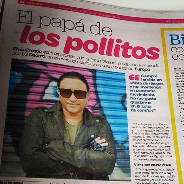 #Repost @elviscrespolive・・・Gracias a @melbabrugueras y a @primerahora por este reportaje! #PuertoRico #ElPapaDeLos @nevarezpr photo: Luis Carmona @letusdotheworkforyou @puertoricounder @luiscarmona #elviscrespo #merengue #puertorico #elpapadelospollitos