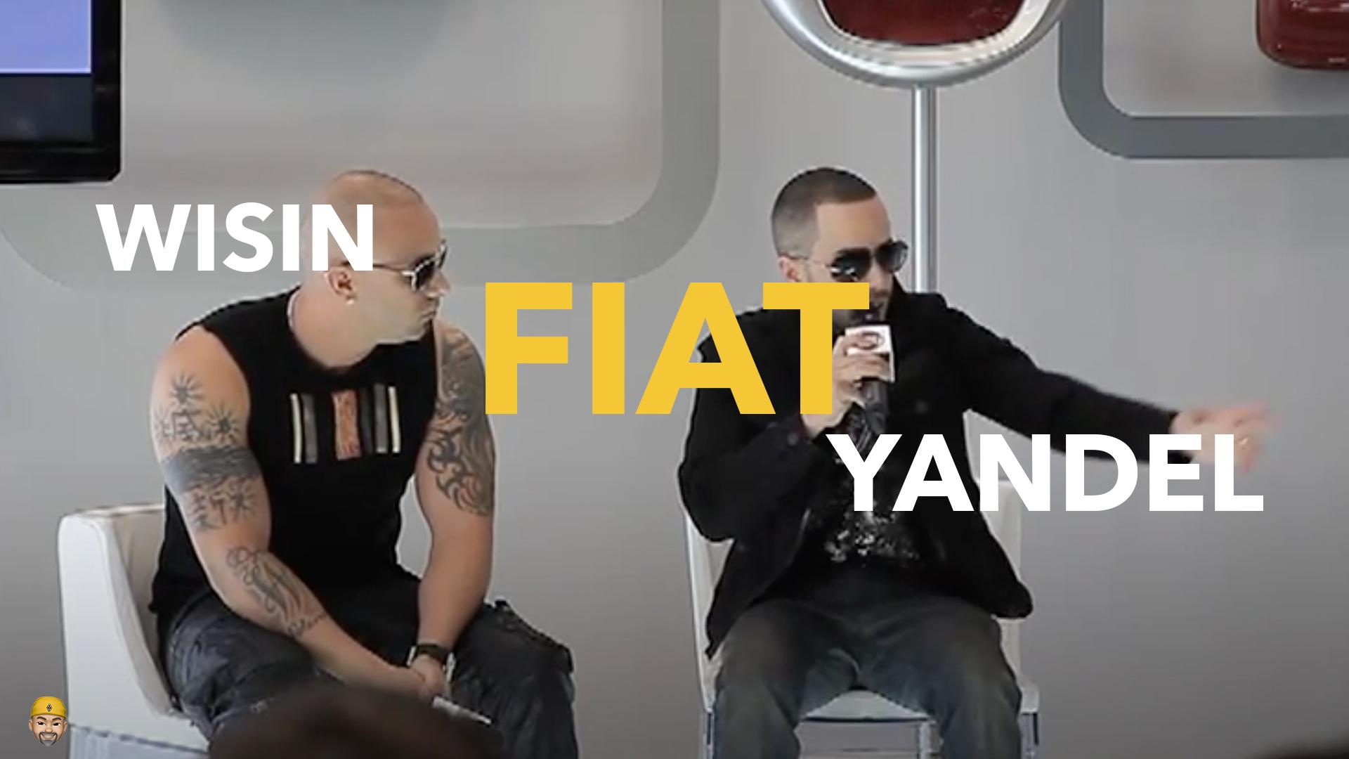 Wisin Y Yandel en conferencia de prensa junto a FIAT